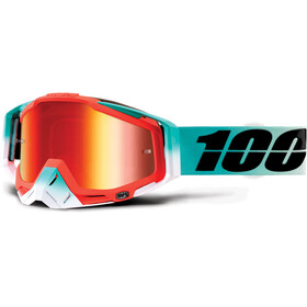 100% Racecraft Anti Fog Mirror Goggles Petrol